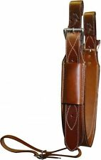 """Showman 3"""" Wide Medium Oil LEATHER Horse Flank / BACK CINCH with Roller Buckles"""