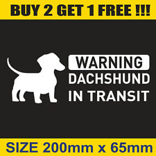 Daschund On Board Car Sticker Popular Funny