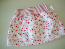 Baby Rock, Röckchen  Gr. 62/68, Einzelstück, Blümchen rosa-pink, Babykleidung