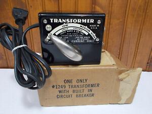 TESTED & Guaranteed MARX #1249 50 watt ToyTrain transformer w circuit breaker