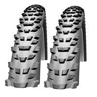 """2X Impac By Schwalbe Trailpac 26 X 2.25"""" Knobbly Mountain Bike ATB MTB Tyres"""
