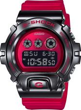 Casio G-Shock Metal Black Bezel GM6900B-4 25th Anniversary Skeleton Red Band