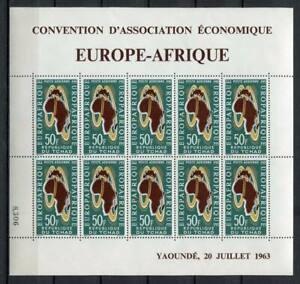 29715) Dealer Stock Tchad 1963 MNH Europa Afrique Ms ( x5 Ms)