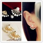 1 Pair New Fashion Women Lady Elegant Pearl Rhinestone Ear Stud Earrings Jewelry