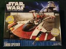 New Hasbro Star Wars Jedi Turbo Speeder Clone Wars + free figure.