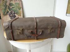 V1793 Alter Reisekoffer um 1930 ~ Vintage ~ Oldtimer Koffer mit Holzleisten