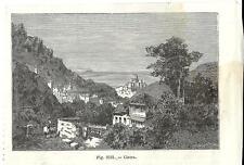 Stampa antica CINTRA veduta Portogallo Portugal 1889 Old Print Gravura antigua