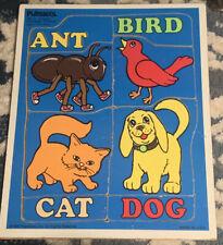 Vintage Playskool Alphabet Friends Wooden Puzzle