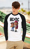 AC/DC Long Sleeve T-Shirt Rock Band TEE SHIRT Baseball Raglan Top