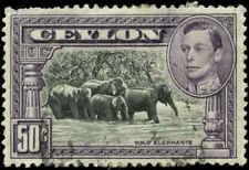 Ceylon Scott #286a Used  Perf 14