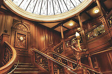 "1912 RMS Titanic First Class Staircase White Star Line - 17""x22"" Art Print-00180"