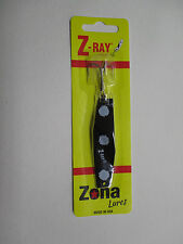 Z-Ray 5/8 oz Black with White Spots Fishing Lure