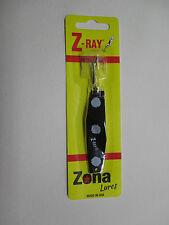 Z-Ray 5/8 OZ schwarz mit weißen Flecken Fishing Lure
