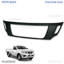 Fits Nissan Navara Np300 2015 17 Truck UTE Matte Black Front Grille Cover Grill