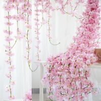 2M Sakura Rattan Garland Wedding Decorative Vine Wall Hanging Arch Home Decor