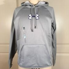 Under Armour Womens Size Large Hoodie UA Storm Pullover Water Resistant Gray