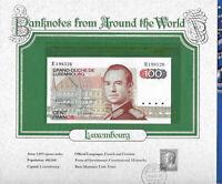 World Banknotes Luxembourg 100 Francs 1980 P-57 UNC Prefix E Birthday E198526