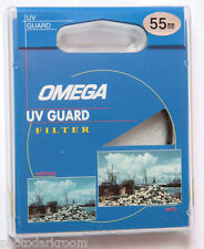 55mm UV Guard - Photo Filter - Protect Lens - Omega 1679 - Japan - NEW F12
