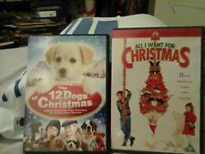 2 DVDs 12 Dogs Of Christmas All I Want For Christmas Family Children's