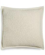 """Lacourte 22"""" Square Textured Cotton Waffle-Weave Decorative Pillow T97160"""
