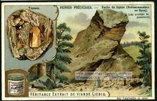 Topaz Gem Jewel Mining In Germany Mineral Gem 1903 Trade Ad Card