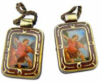Catholic Archangel Protector Saint St Michael Devotional Cord Scapular Necklace