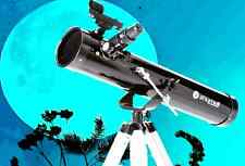 Zhumell 76mm AZ Reflector Telescope, 2 Eyepieces, 2x Barlow lens, Sturdy Tripod.