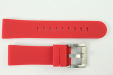 TW Steel Marc Coblen Edition Uhrenarmband 22mm Silikon Rot