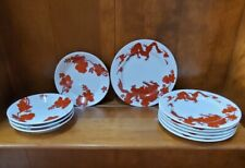 """Fitz and Floyd Dragon Temple set (6) 6 5/8"""" Bread Plates and (4) 5 1/2"""" Saucers"""