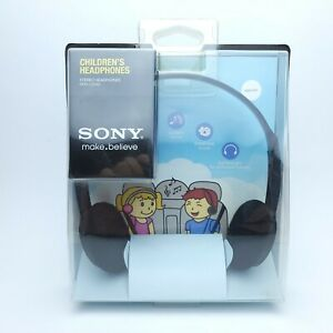 NEW Sony MDR-222KR Black Children's Stereo Headphones *SEALED*