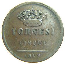 [NC] REGNO DELLE DUE SICILIE - FERDINANDO II - 5  TORNESI 1849 (nc1983)
