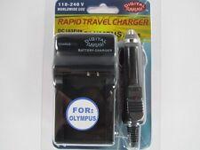 OLYMPUS LI70B DC103 Fits Wall & Car Charger by Digital Sunflash - Black
