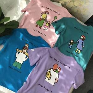 New Balance x Noritake Mother and Son Boys Mommy Kids Family Cotton T-Shirt Tee