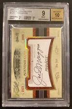 Joe DiMaggio 2008 New York Yankees Prime Cuts Souvenir Cuts Auto BGS 9/10 /250