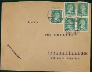 MayfairStamps Germany Munster to Springfield Illinois 1927 Cover wwp61171