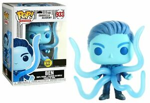"THE UMBRELLA ACADEMY GLOW BEN 3.75"" POP TELEVISION VINYL FIGURE FUNKO 933"