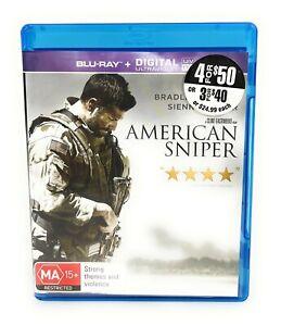 American Sniper (Blu Ray, 2014) Bradley Cooper Region B Free Postage