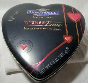 Vintage Ghirardelli  Dark Chocolate Heart  Collectors Tin 1999 ☆