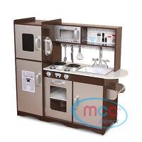 MCC® Large Kids Grey Wooden Play Kitchen,Children's Play Pretend & Utensils Toys