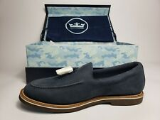 Peter Millar Crown Tassel Loafer mens sz 10.5 Navy Blue Suede Brand new With Box