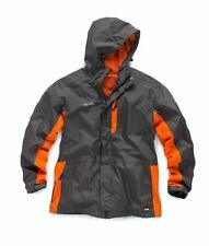 Scruffs Worker Jacket Mens Waterproof Work Coat Grey Orange Lightweight Raincoat Medium - 42/44