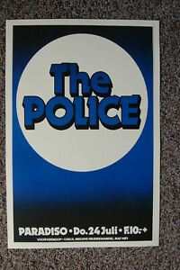 The Police Concert poster 1980 Paradiso Amsterdam --