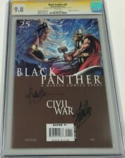 Marvel Black Panther #25 Signed by Stan Lee & Michael Turner CGC 9.8 SS Avengers