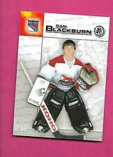 RARE 2003 RANGERS YOUNG DAN BLACKBURN  DURACELL GOALIE  CARD (INV# C3314)
