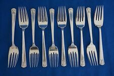 Holmes & Edwards CENTURY 1923 Super Plate SALAD FORKS - Set of 10 - 6 1/4""