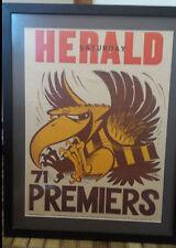 Hawthorn Hawks 1971 Original Weg Poster