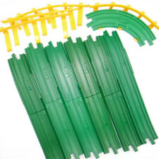 GeoTrax 11 Piece Long Green Ramps Curve Yellow Guardrail Track Lot Fisher Price