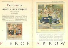 1929 PIERCE ARROW 2 PG NEW CHAPTER  AD - ORIG VIN PRINT AD