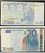 "Greece. 20 Euros  prefix ""Y028""  Greek  First series Trichet Signature GEM UNC"