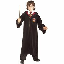 HARRY POTTER HALLOWEEN COSTUME ROBE WITH HOODIE EMBLEM SCARF GLASSES CHILD  M